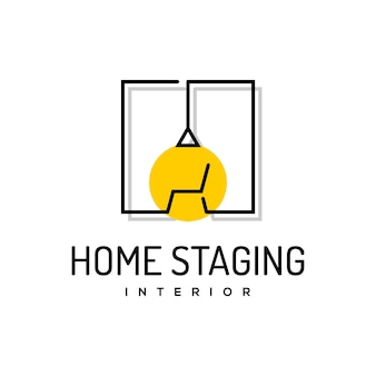 Interieur design logo meubelhuis vector