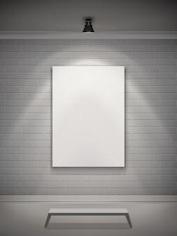 Interieur galerij realistisch