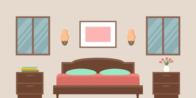 Interieur van de slaapkamer.