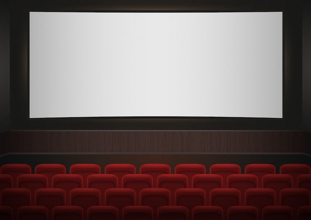 Interieur van een bioscoop bioscoop