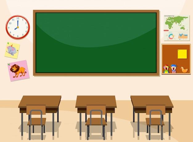 Interieur van een klaslokaal
