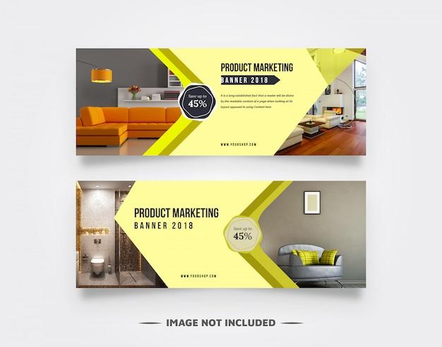 Interieur webbanner ontwerp