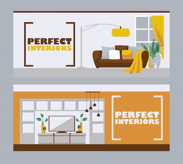 Interieurontwerp banners