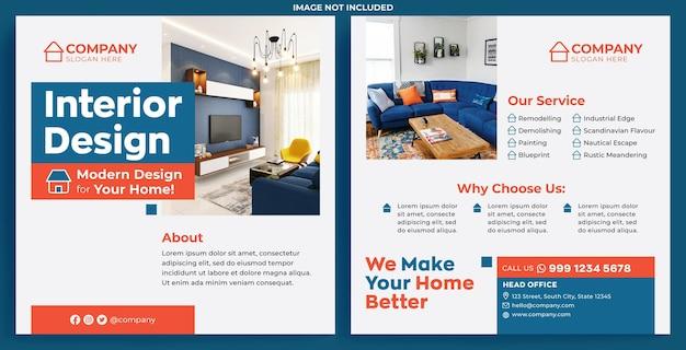 Interieurontwerp promotie feed instagram in moderne ontwerpstijl