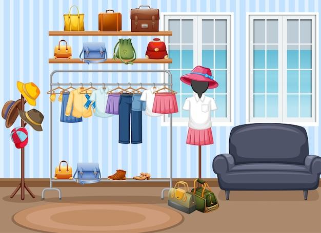 Interieurontwerp van kleedkamer