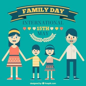 Internationaal familie dag plat ontwerp