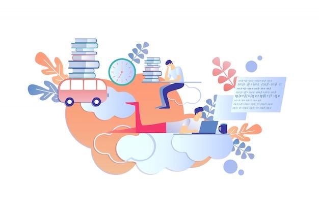 Internationaal leren op afstand met behulp van e-books.