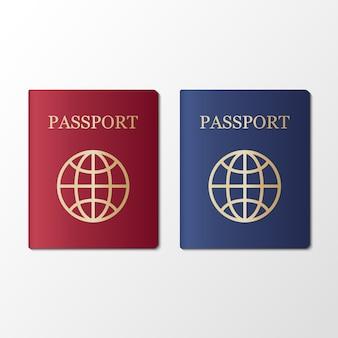 Internationaal paspoort op wit
