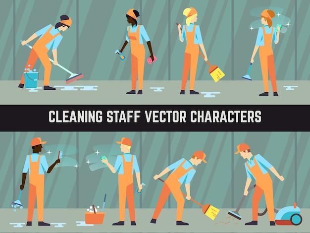 Internationaal schoonmaakpersoneel