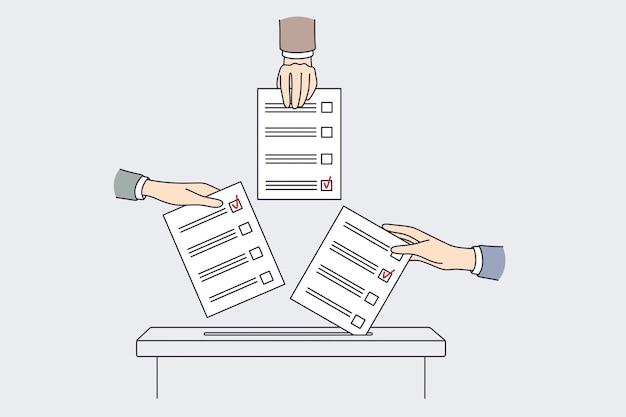 Internationaal stemmen en verkiezingen concept