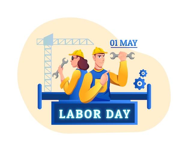 Internationale arbeidsdag - illustartion