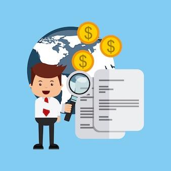 Internationale beurs pictogrammen