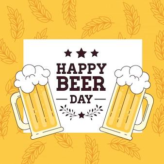 Internationale bierdag, augustus, mokken glas bier