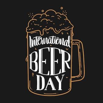 Internationale bierdag belettering concept