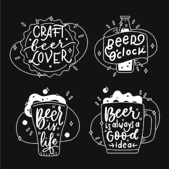 Internationale bierdag belettering etiketten