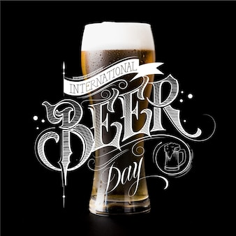 Internationale bierdag belettering thema