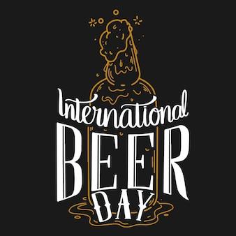 Internationale bierdag belettering