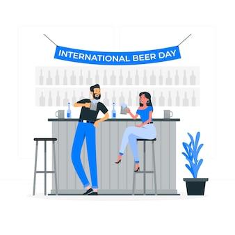 Internationale bierdag concept illustratie