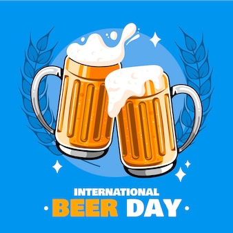 Internationale bierdag illustratie
