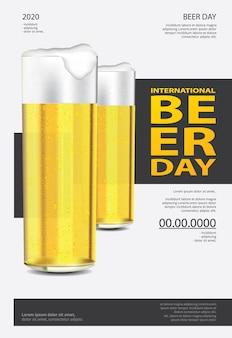 Internationale bierdag sjabloon