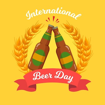Internationale bierdag tekenen