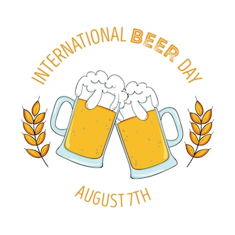 Internationale bierdag tekenen