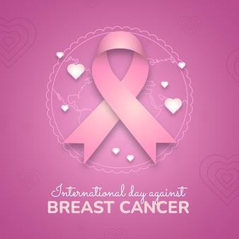 Internationale dag met kleurovergang tegen borstkanker illustratie
