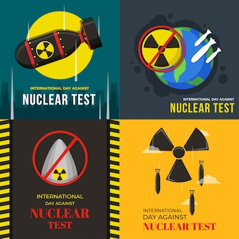 Internationale dag tegen nucleaire tests illustratie