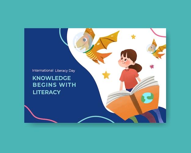 Internationale dag van de alfabetisering conceptontwerp