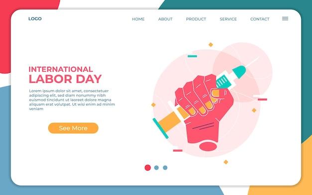 Internationale dag van de arbeid. bedankt alle gezondheidswerkers van de wereld.