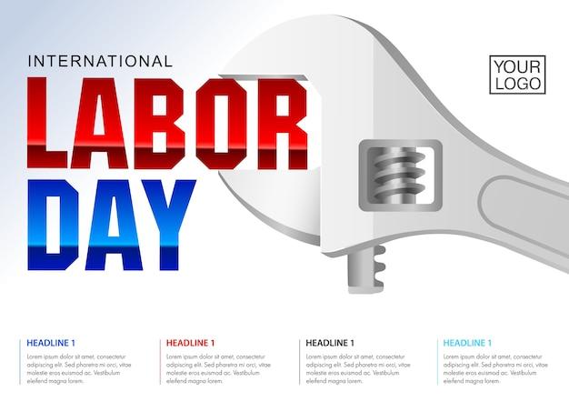 Internationale dag van de arbeid poster sjabloon.
