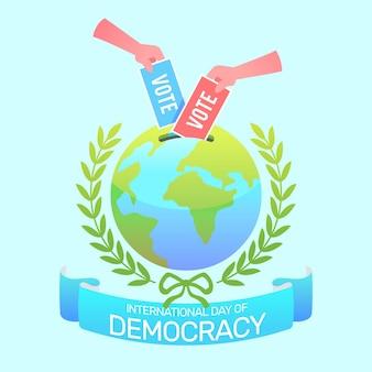 Internationale dag van de democratie achtergrond