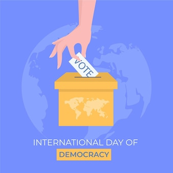 Internationale dag van de democratie concept