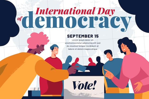 Internationale dag van de democratie concept