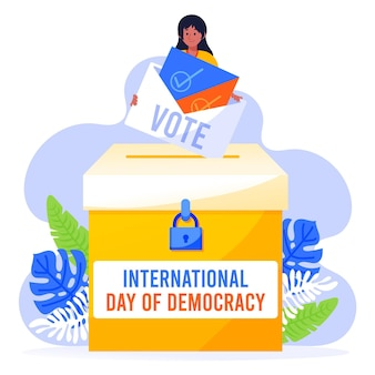 Internationale dag van de democratie illustratie
