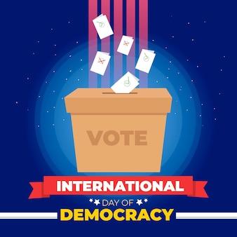 Internationale dag van de democratie illustratie