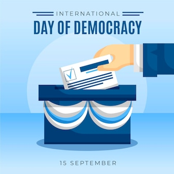 Internationale dag van de democratie stemming idee
