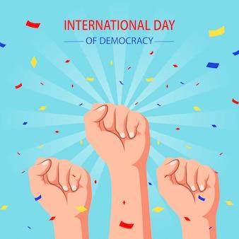 Internationale dag van de democratie. vector illustratie