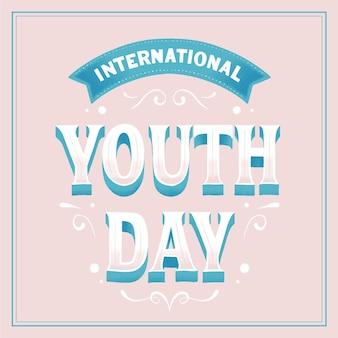 Internationale dag van de jeugd belettering