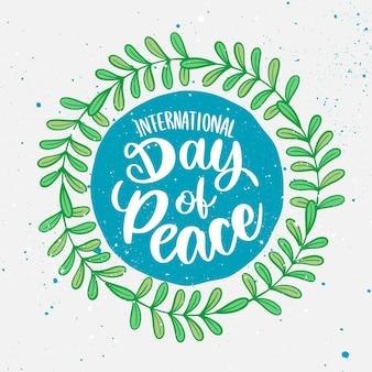 Internationale dag van de vrede belettering