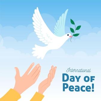 Internationale dag van de vrede handgetekende