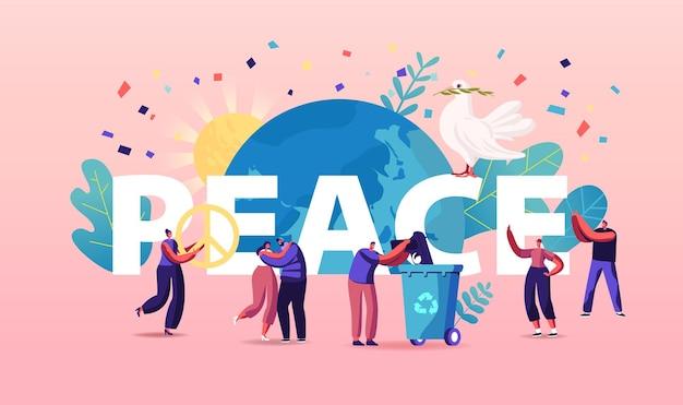Internationale dag van de vrede illustratie