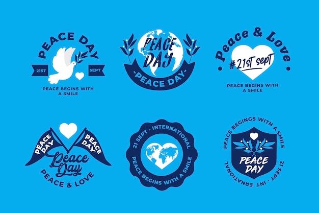 Internationale dag van de vrede labels-collectie