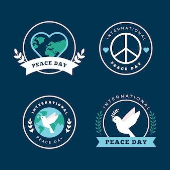 Internationale dag van de vrede labels