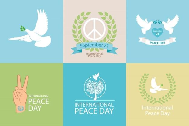 Internationale dag van de vrede poster