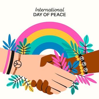 Internationale dag van de vrede trekken