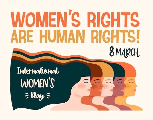 Internationale dag van de womens illustratie
