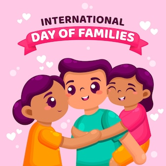 Internationale dag van families illustratie concept
