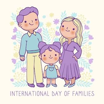 Internationale dag van families tekenen ontwerp