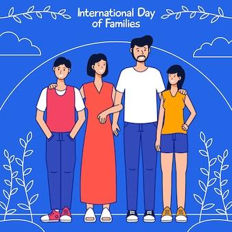 Internationale dag van families tekenen